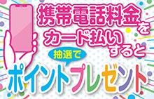 【スマイルパーソナル】携帯電話料金をカード払いすると1,000円相当分のポイントプレゼントキャンペーン